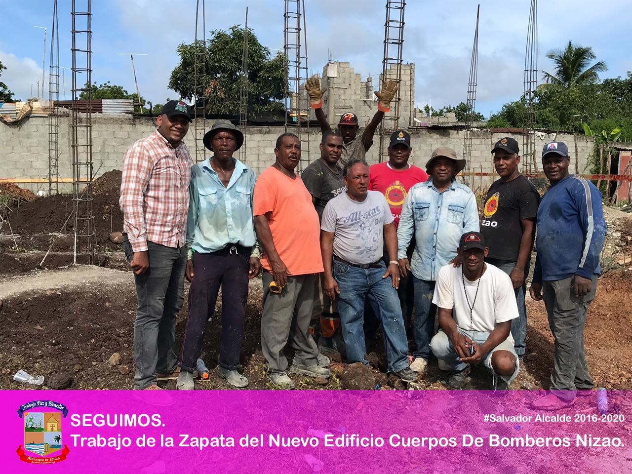 SEGUIMOS. Trabajo de la Zapata del Nuevo Edificio Cuerpo De Bomberos Nizao