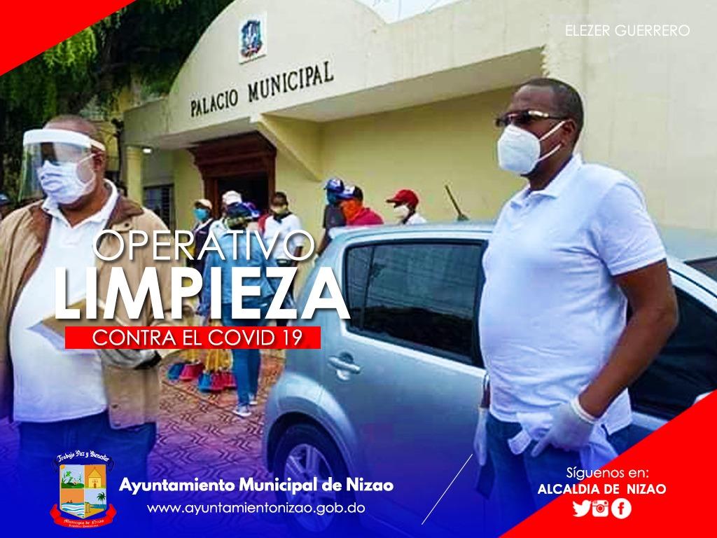 Eleazar Guerrero Realiza Operativo de Limpieza Contra el COVID 19