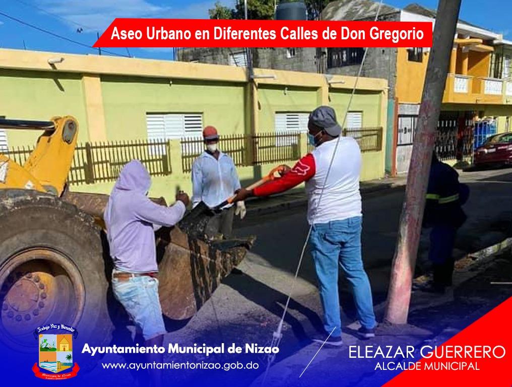 Aseo Urbano en Diferentes Calles de Don Gregorio