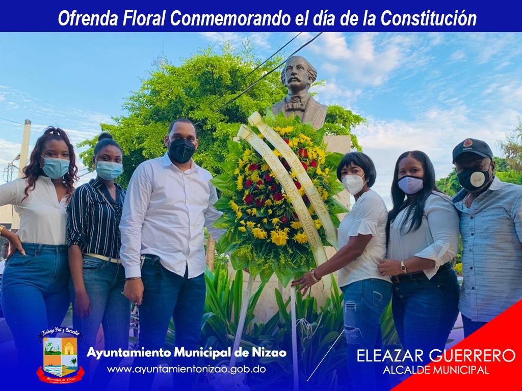 Ofrenda Floral Conmemorando el día de la Constitución