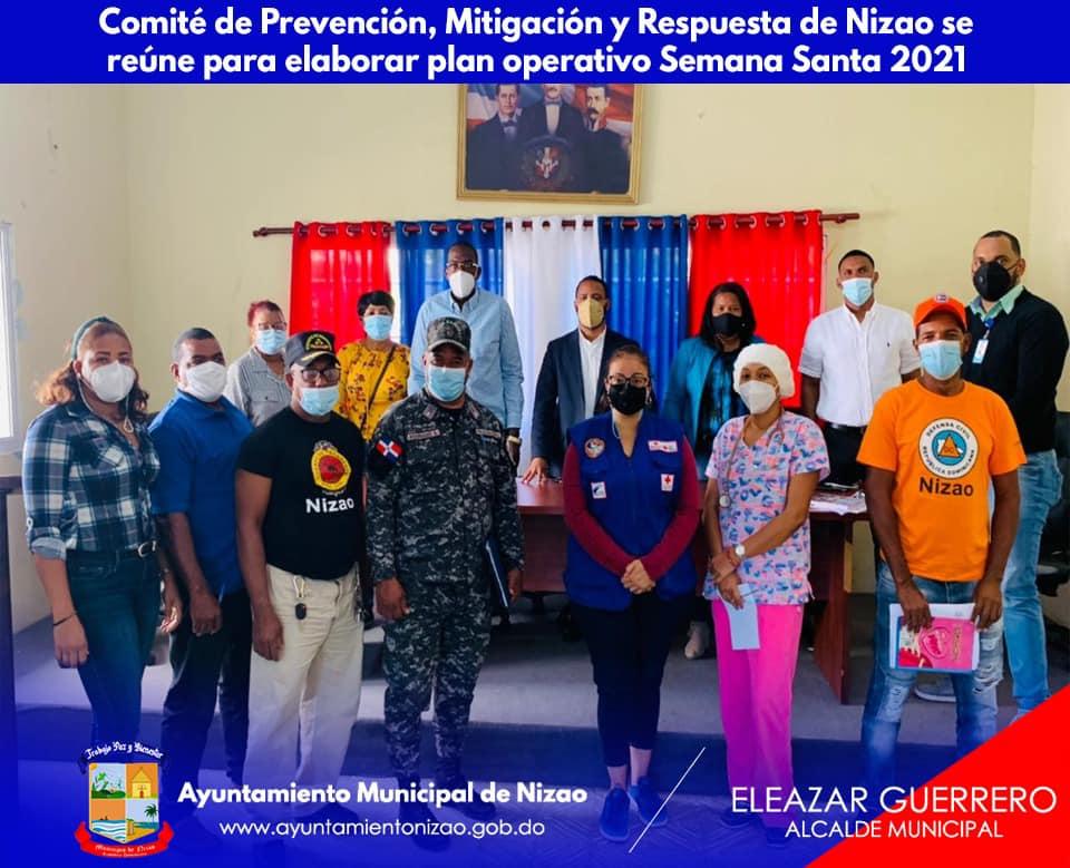 Comité de Prevención, Mitigación y Respuesta de Nizao se reúne para elaborar plan operativo Semana Santa 2021